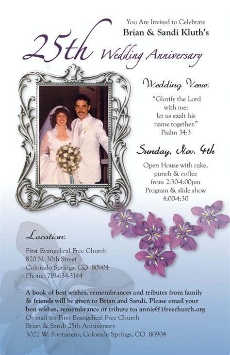 Brian and Sandi Kluth's 25th Wedding Anniversary Invitation