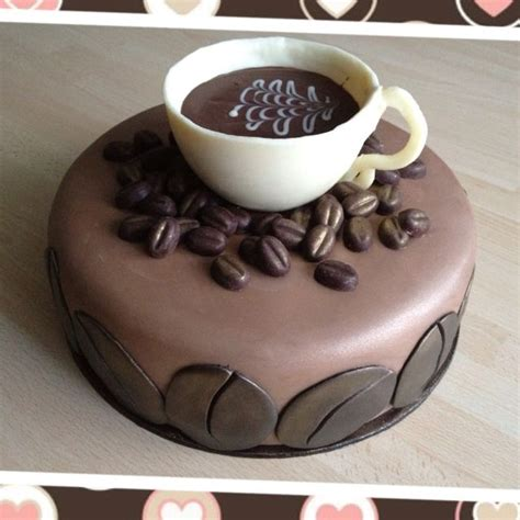 Cake Coffee Bean coffee themed cake cup and beans made with chocolate a