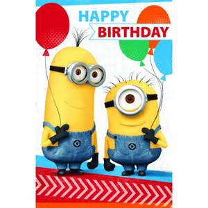 despicable me happy birthday card