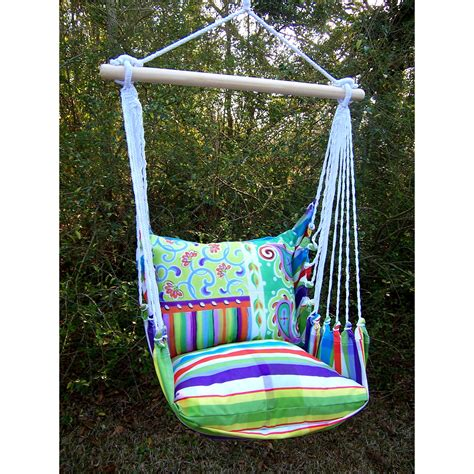 hammock swing chairs magnolia casual dandy hammock chair with pillow set