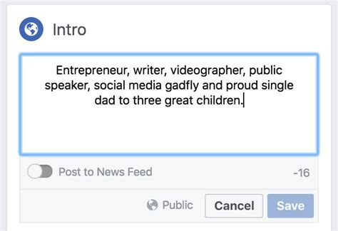 biography about facebook add a bio and featured photos to your facebook profile