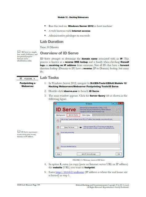 Cehv8 Labs Module12 Hacking Webservers