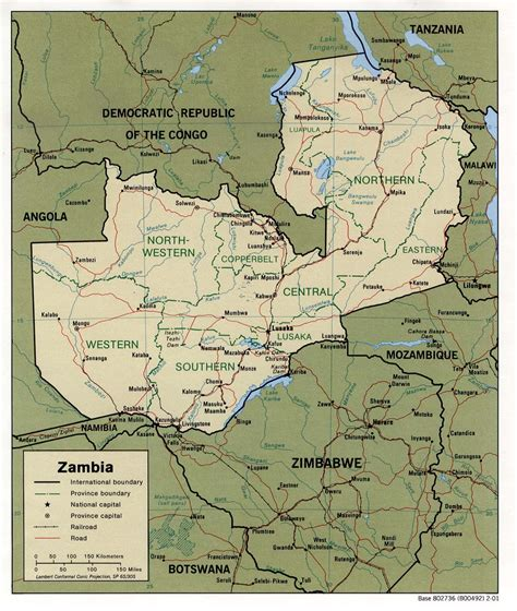 zambia map nationmaster maps of zambia 4 in total
