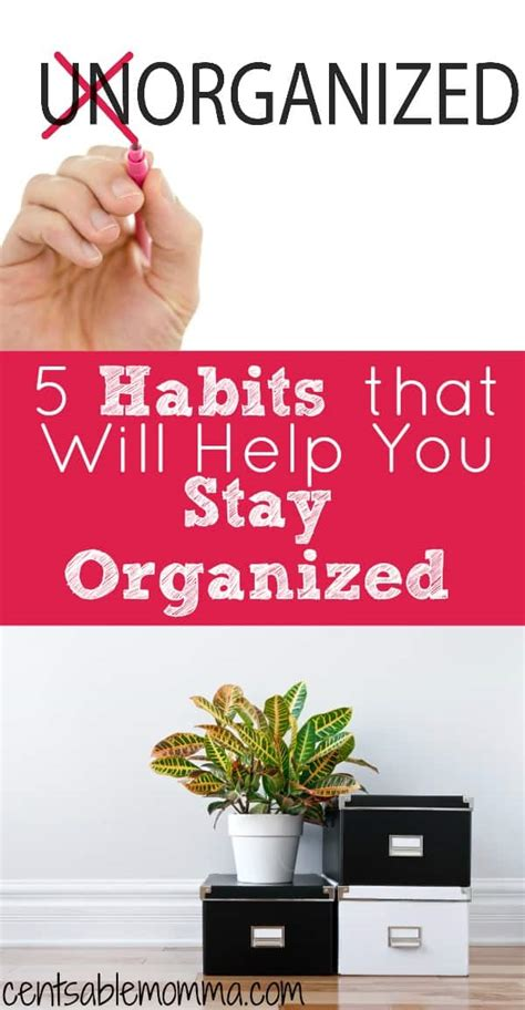 get organized stay organized books 5 habits that will help you stay organized centsable momma