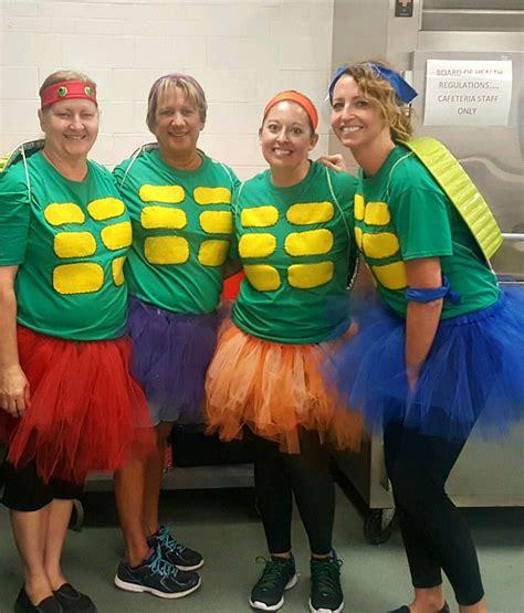 diy teenage mutant ninja turtles ladies halloween costume