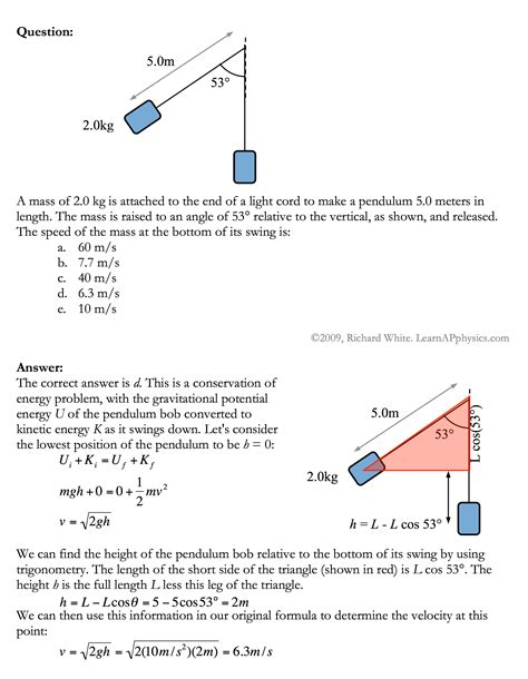 Work Power And Energy Problems Learn Ap Physics Physics 1 And 2 Work And Energy