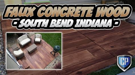 Faux Concrete Wood   South Bend Indiana   YouTube
