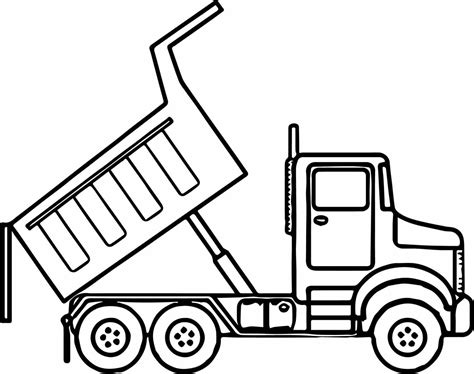 Simple Dump Truck Coloring Pages by Simple Dump Truck Drawing Marycath Info