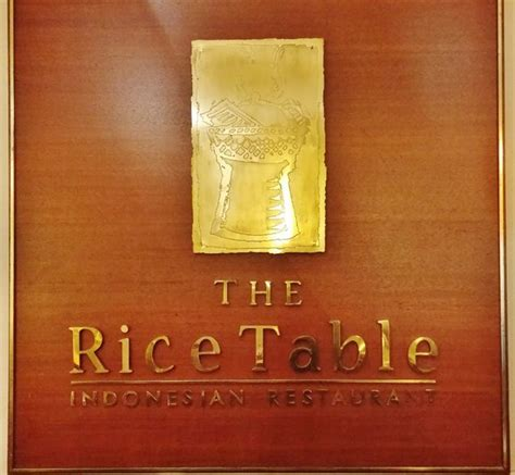 Rice Table by Dine Rijsttafel Style At The Rice Table