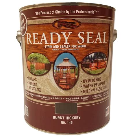 ready seal  gal burnt hickory exterior wood stain