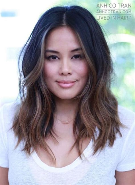 best 25 one length hair ideas on pinterest shoulder photos dark shoulder length hairstyles black hairstle
