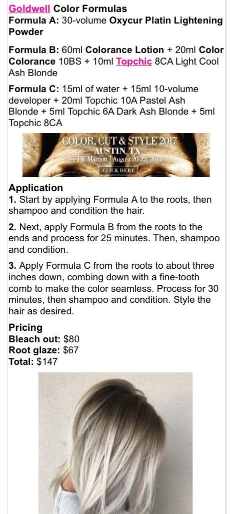 goldwell topchic color formulas 646 best ombr 233 sombre techniques images on