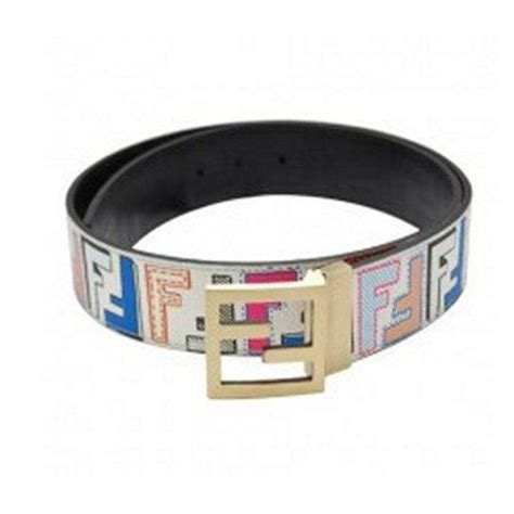 fendi white multi color belt accessories