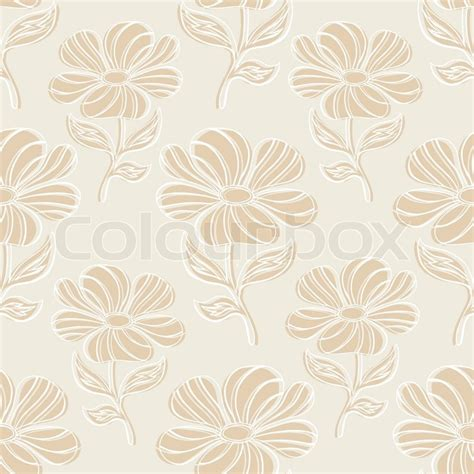 flower design floor tiles vintage floral background brown seamless pattern