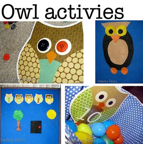 kindergarten lesson on texture and pattern owls o is for owl activities could also use these during our