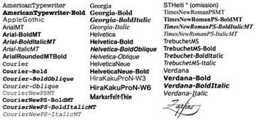 using bitmap fonts
