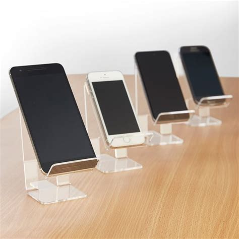 Acrylic Stand Untuk Smartphone clear acrylic mobile phone holder for most types of smartphone