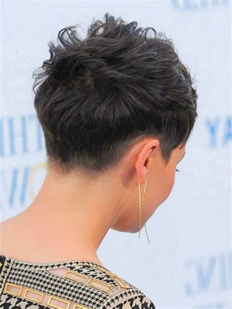 back image of very short pixie cut back view of short pixie haircuts 98 with back view of
