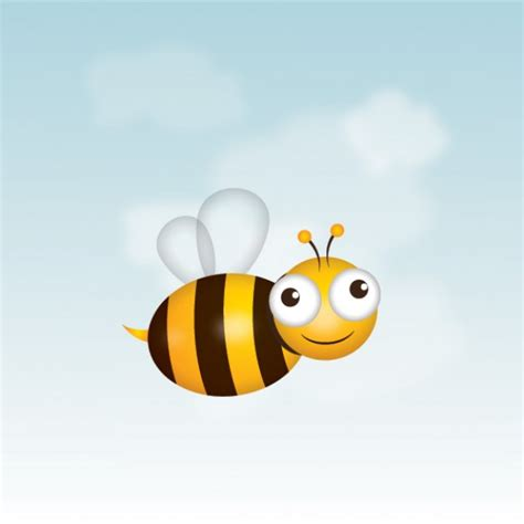 bee character legless vector free