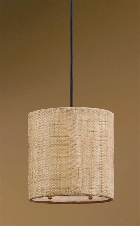 Burlap Pendant Light Dafina 1 Light Burlap Mini Drum Pendant