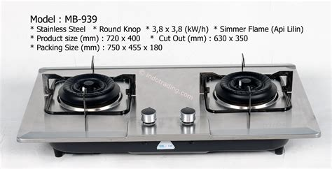 Kompor Electric sell miba built in gas stove mb 891 from indonesia by cv