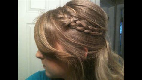 cute  updo poofbump  headband braids youtube