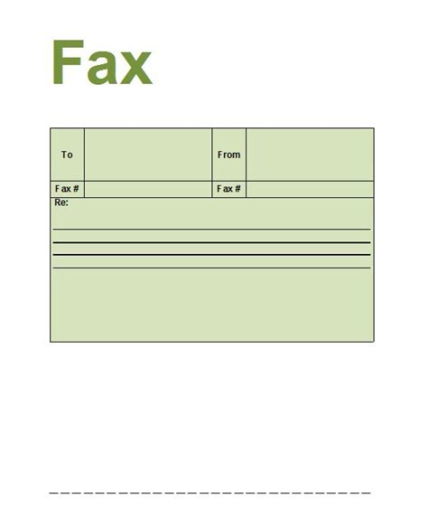 printable fax template 40 printable fax cover sheet templates template lab