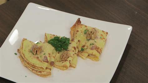 ricetta con il sedano crepes con sedano rapa noci e gorgonzola gambero