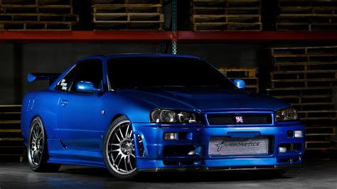 Blue Nissan Skyline Gt R Wallpaper Full Hd Pictures
