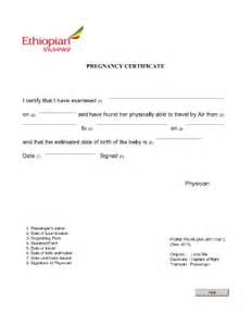 fit to fly certificate pregnancy format fill online