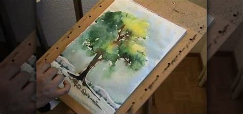 how to paint a tree in watercolor 171 painting tips wonderhowto