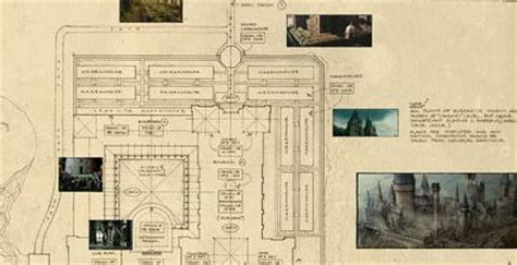 Grimmauld Place Floor Plan blueprint of hogwarts from deathly hallows film revealed