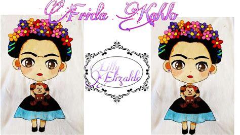 imagenes de frida kahlo kawaii frida kahlo camisa pintada a mano frida kahlo painted