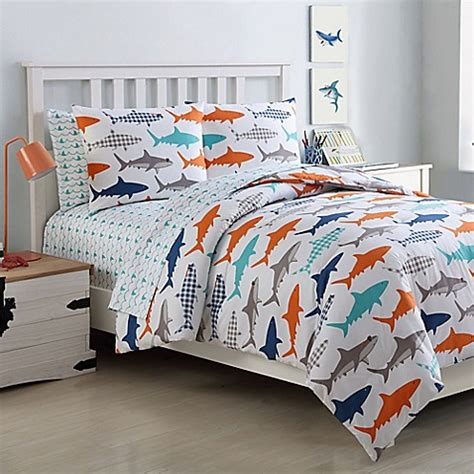 Shark Crib Bedding Vcny Home Finn Shark Comforter Set Buybuy Baby
