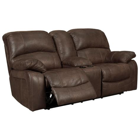 power glider recliner ashley zavier glider recliner power loveseat with console