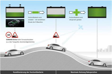 r馼ausseur si鑒e auto wie mercedes hybride bergab rekuperation optimal nutzen