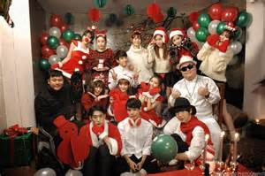 Chrome entertainment releases bts photos from christmas collaboration