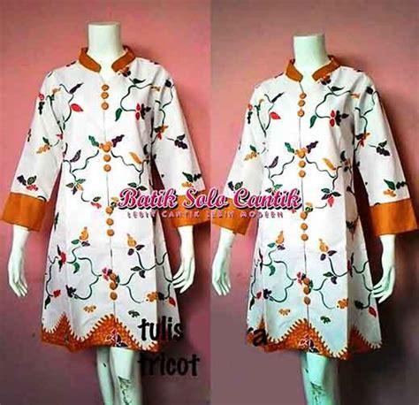 Dress Batik Tulis Halus Coklat Klasik batik tulis model dress batik baju kerja batik