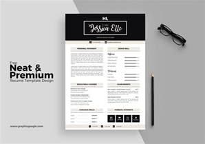 premium resume templates free neat premium resume template design