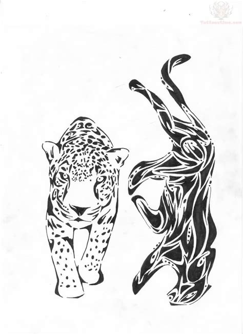 tribal tattoo jaguar tribal jaguar and jaguar walking designs