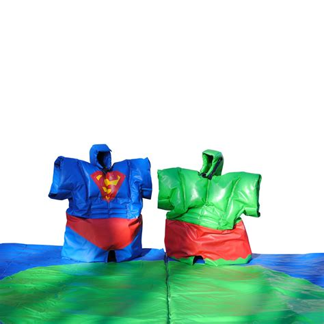 adult super hero sumo suits jv bouncy castle hire