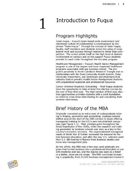 Fuqua Mba Application by School Guide Fuqua School Of Business