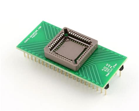 Pin Peniti 44 Mm proto advantage plcc 44 socket to dip 44 adapter 50 mils 1 27 mm pitch