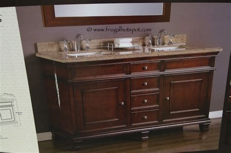 costco sale mission wood vanity sink
