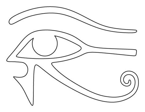 printable egyptian stencils eye of horus pattern use the printable outline for crafts