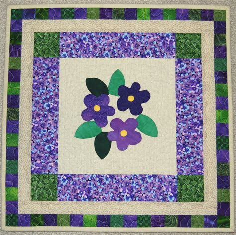Applique Quilt by Val S Doll Quilts