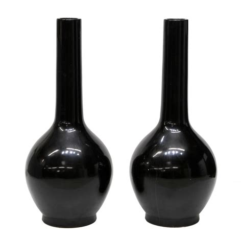 Large Black Floor Vase by Pair Large Black Ceramic Floor Vases Two Day