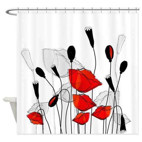cafe press shower curtains beautiful red poppies shower curtain by bestshowercurtains