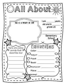 about me template for students included in this file is a simple quot all about me quot poster