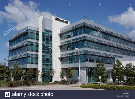 house construction stock photo image of framing microsoft office building mississauga canada stock photo